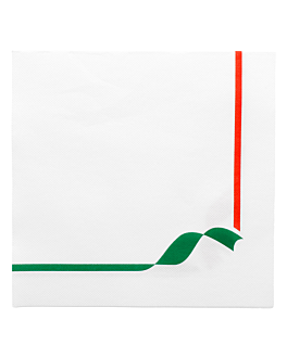 ecolabel napkins 'double point - trattoria' 18 gsm 40x40 cm white tissue (1200 unit)