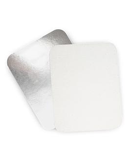 couvercles pour rÉfÉrence 135.95/96 22x17,2 cm blanc aluminium (100 unitÉ)