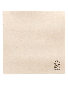 serviettes recyclÉs ecolabel 'double point' 19 g/m2 25x25 cm naturel ouate recyclÉe (3000 unitÉ)