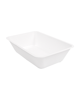containers 'bionic' 800 ml 20,3x13,6x5 cm white bagasse (500 unit)