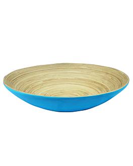bowls Ø 30x9 cm turquoise bamboo (30 unit)