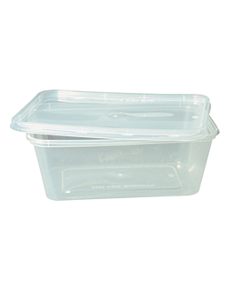 rectangular containers 1000 ml 17,5x12x6,5 cm clear pp (500 unit)