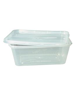 recipientes rectangulares 1000 ml 17,5x12x6,5 cm transparente pp (500 unid.)