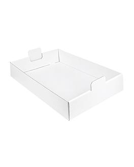plateaux regrouper 54,5x38,5x9,5 cm blanc carton (50 unitÉ)