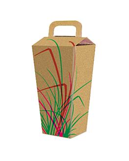 "recipientes pop corns eco. con asa ""unieco"" 90 g 300 g/m2 8x8x20,5 cm marrÓn cartoncillo (600 unid.)"