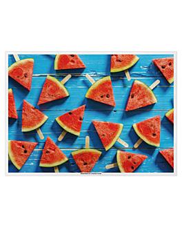 tovagliette offset 'watermelon' 70 g/m2 31x43 cm quatricomia carta (2000 unitÀ)