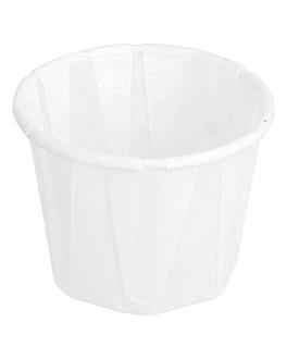 pots traiteur plissÉ 22 ml Ø3,8x2,8 cm blanc parch.ingraissable (250 unitÉ)