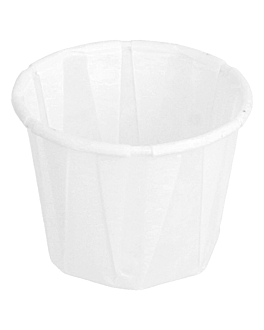 terrina carta plissettata 22 ml Ø3,8x2,8 cm bianco pergamana antigrassi (250 unitÀ)