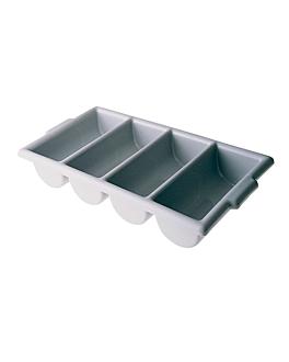 cutlery box gastronorm 1/1 53,5x30x10 cm grey pp (1 unit)