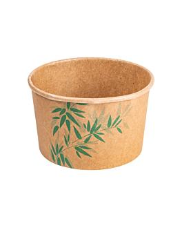 pots À glaces 'feel green' 240 ml 250 + 18 pe g/m2 Ø9,4x5,5 cm marron carton (2000 unitÉ)
