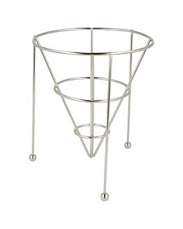 basket stackable 12,7x15,24 cm argente inox (12 unitÉ)