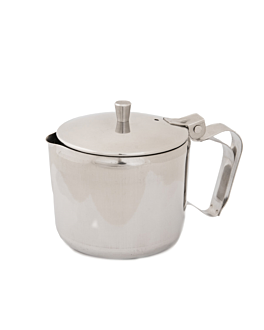 tea pot with lid 350 ml 7,4x7,4x9,3 cm silver stainless steel (1 unit)