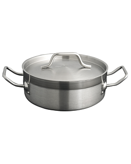 pot with lid 6 l Ø 28x10 cm silver stainless steel (1 unit)