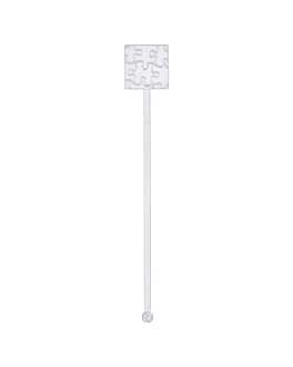 stirrers for drinks 18,5 cm clear ps (100 unit)