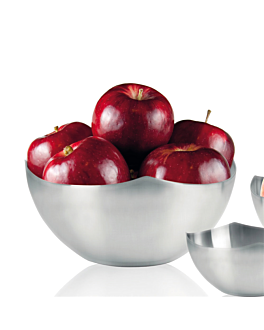 bowl for bread / fruit Ø 24x10 cm silver stainless steel (1 unit)