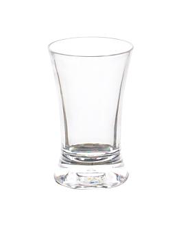 shot glasses 50 ml Ø 4,5x7,5 cm clear polycarbonate (12 unit)