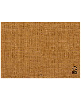 eco-friendly table mats 'arpillera' 48 gsm 30x40 cm brown recycled paper (2000 unit)