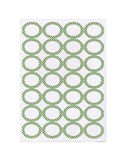 100 hojas din a4 28 etiquetas ovales 4,5x3,6 cm blanco papel (1 unid.)