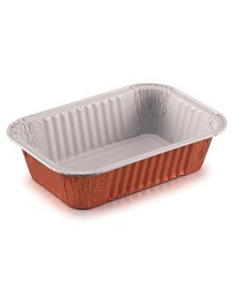 contenedores lacados 910 ml 20,4x13,8x4,9 cm cobre aluminio (100 unid.)