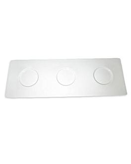base 3 cavitÉs 34,5x12 cm blanc porcelaine (4 unitÉ)