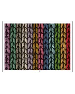 """sets de table offset """"tricot"""" 70 g/m2 31x43 cm quadrichromie papier (2000 unitÉ)"""