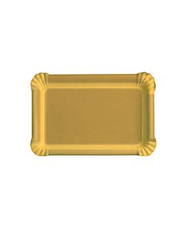bandejas rectangulares 550 g/m2 16x22 cm oro cartÓn (50 unid.)