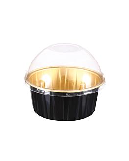 recipientes pastelerÍa 125 ml Ø8,5x3,5 cm oro/negro aluminio (100 unid.)
