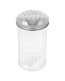 cheese shaker 360 ml Ø 7,5x14 cm clear polycarbonate (1 unit)