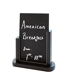 pizarra / cartel sobremesa 15,2x22,9 cm negro madera (1 unid.)