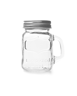 mini jug with lid 128 ml 7,5x5,5x8,5 cm clear glass (96 unit)