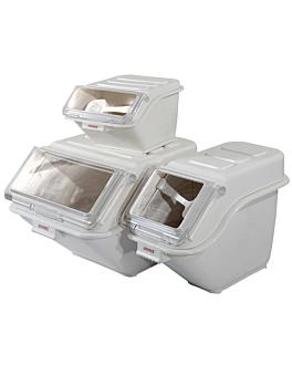 contenitore da stoccaggio 40 l 59,3x48,6x43,2 cm bianco pp (1 unitÀ)