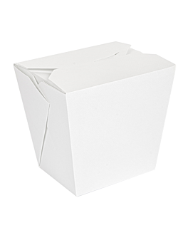 ricipienti multiuso per microonde 'thepack' 960 ml 230 + 12pp g/m2 8,9x7x10,8 cm bianco cartone ondulato a nano-micro (360 unitÀ)