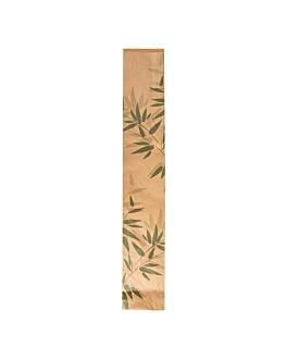 sacchetti panetteria 'feel green' 32 g/m2 9+4x54 cm naturale kraft (250 unitÀ)