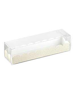 pastry cases + cardboard bases 19x5x5 cm clear pvc (200 unit)