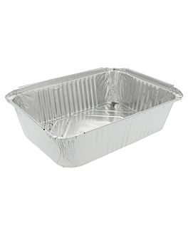 recipientes rectangulares 2300 ml 25,5x18,5x6 cm aluminio (400 unid.)