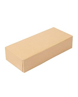 contenitori sushi 'thepack' 220 g/m2 19,7x9x4,5 cm marrone cartone ondulato a nano-micro (400 unitÀ)