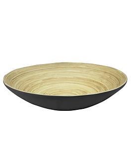 bowls Ø 30x9 cm black bamboo (30 unit)