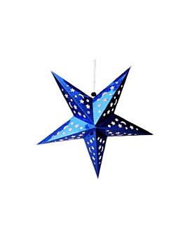 estrellas colgantes Ø 45 cm azul papel (10 unid.)