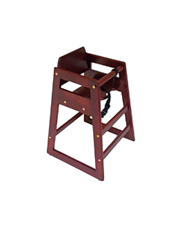 high chair 51x51x74 cm reddish brown wood (1 unit)