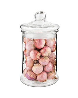 cylindrical storage jar 4350 Ø 19x34 cm clear glass (4 unit)