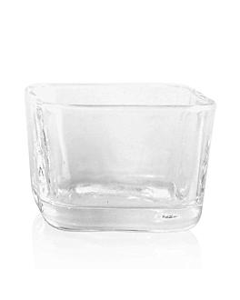 mini vaso cuadrado 2,5 oz 5,7x5,7x4 cm transparente cristal (72 unid.)