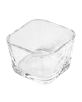 mini vetro quadrato 2,5 oz 5,7x5,7x4 cm trasparente cristal (72 unitÀ)