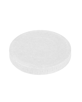 lids for small containers 230 + 18 pe gsm Ø6,2 cm white cardboard (1000 unit)