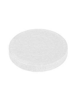 tapas para pequeÑas tarrinas 230 + 18 pe g/m2 Ø6,2 cm blanco cartoncillo (1000 unid.)