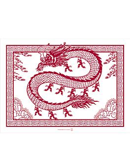 "mantelines ""shanghai"" 48 g/m2 43x31 cm blanco celulosa (2000 unid.)"