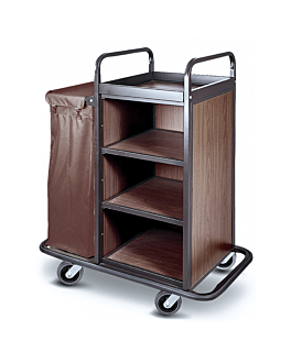 trolley without doors + 1 bag 110x60x131 cm brown iron (1 unit)