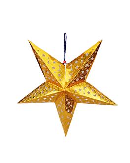 estrella con luz leds Ø 40 cm oro (10 unid.)