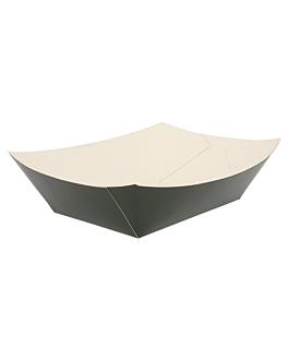 schiffchen 2400 g 275 g/m2 17x9,5x6,5 cm schwarz feinkarton (100 einheit)