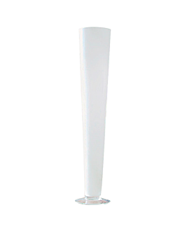giant decoration - beer cup Ø 11/13x68 cm white glass (1 unit)