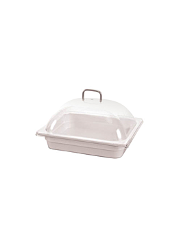 dome cover 1/2 gn 33x27x14,5 cm clear polycarbonate (1 unit)